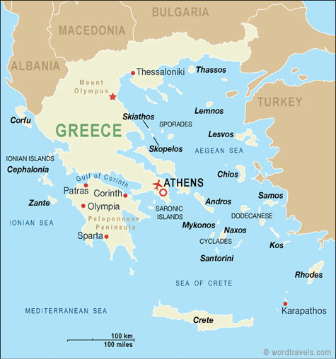 Map Of Greek Islands Cyprus And Turkey