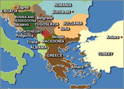 Map Of European Countries And Their Capitals I - European countries and their capitals map
